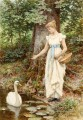 Country Girl by Henry James Johnstone British 02 Impressionist